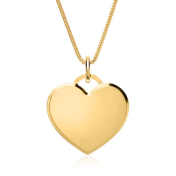 Kette Herz aus 14K Gold gravierbar