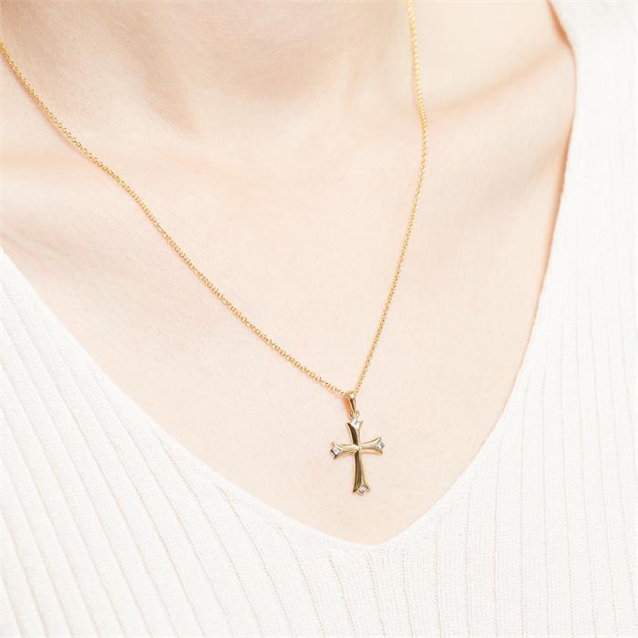 Kette mit Kreuzanhänger aus 333er Gold