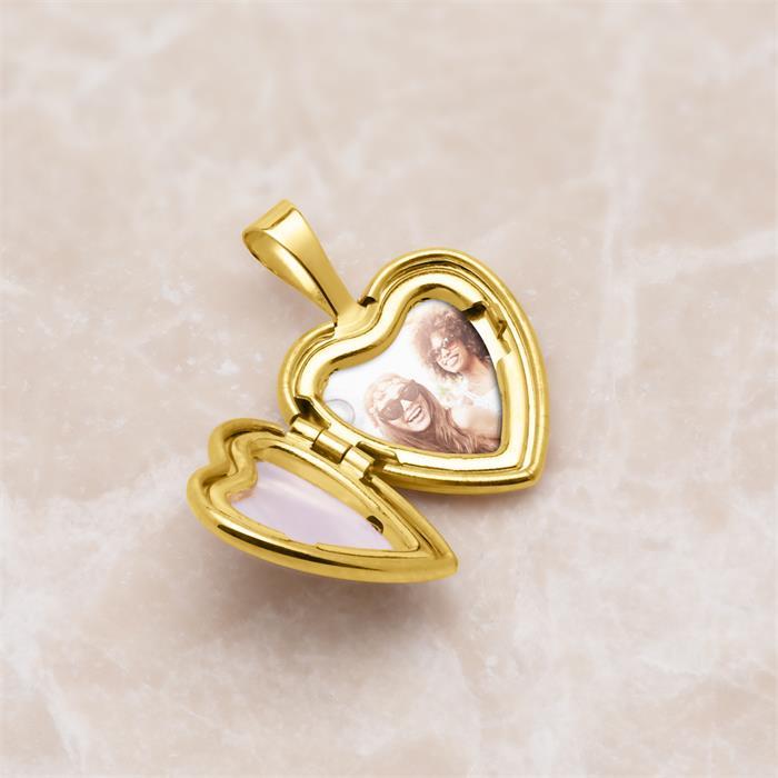 Herz Medaillon aus 585er Gold aufklappbar gravierbar
