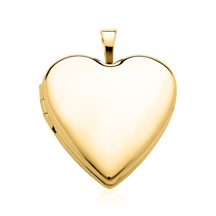 Herzförmiges Medaillon aus 14K Gold gravierbar