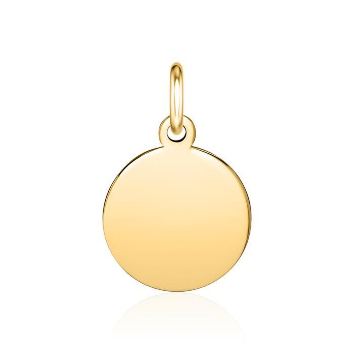 Gravierbarer Anhänger aus 585er Gold, rund