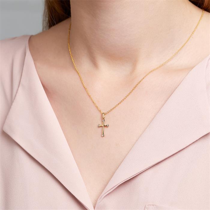 Anhänger Kreuz aus 9-karätigem Gold