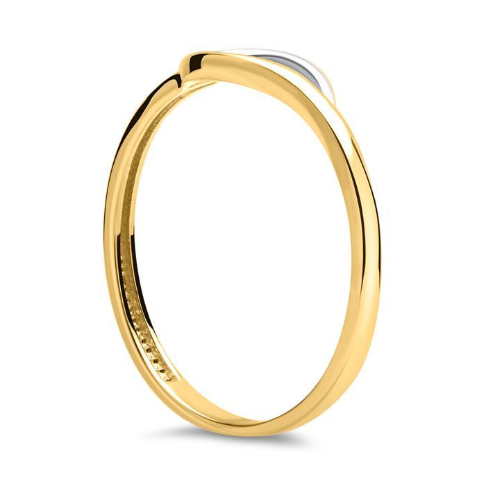 333er Gelb- Weißgold Ring mit Zirkonia