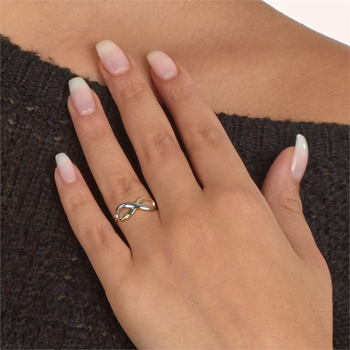 Ring Bicolor Unendlichkeitssymbol
