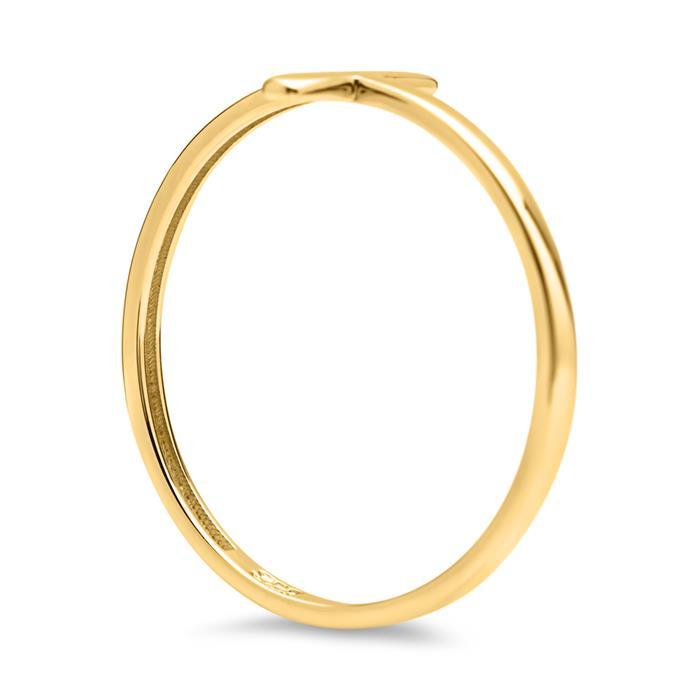 Ring in Kreuzform 333er Gelbgold