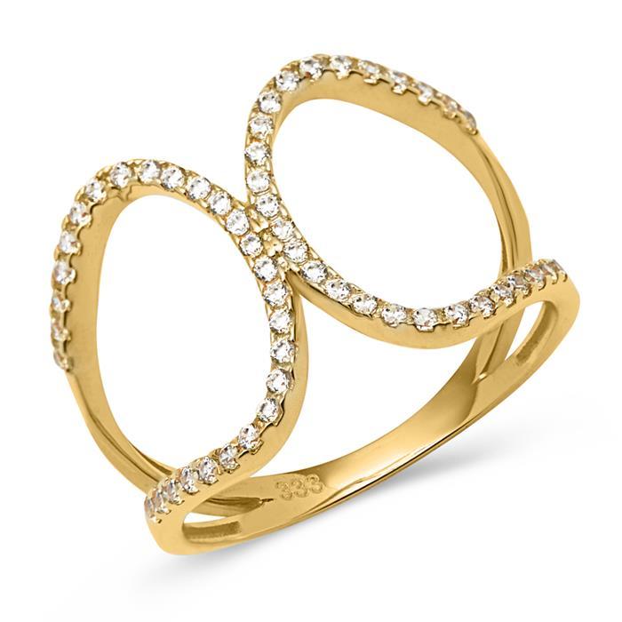 333er Gold Ring Zirkoniabesatz