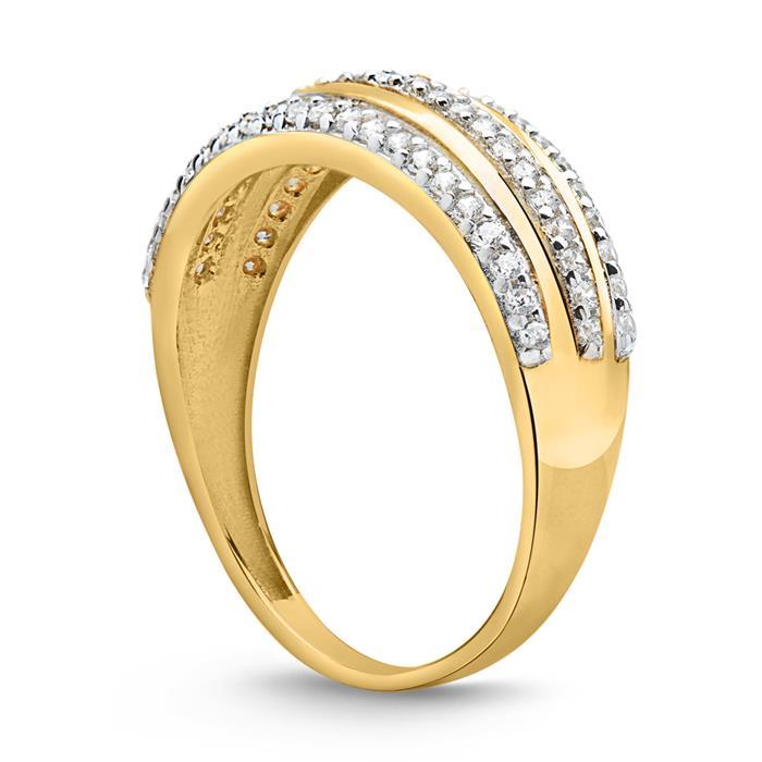 333er Gold Ring mit Zirkonia Elementen