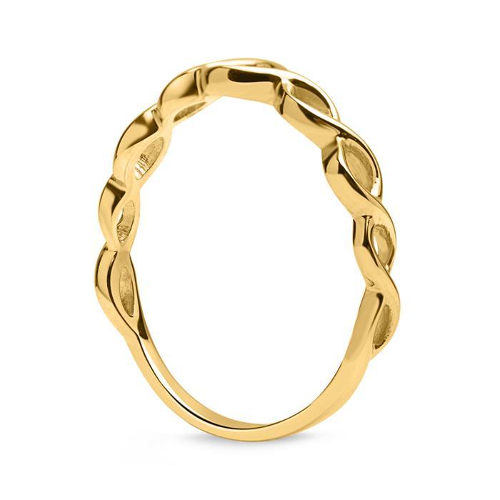 Schicker Ring 333er Gold verschlungen