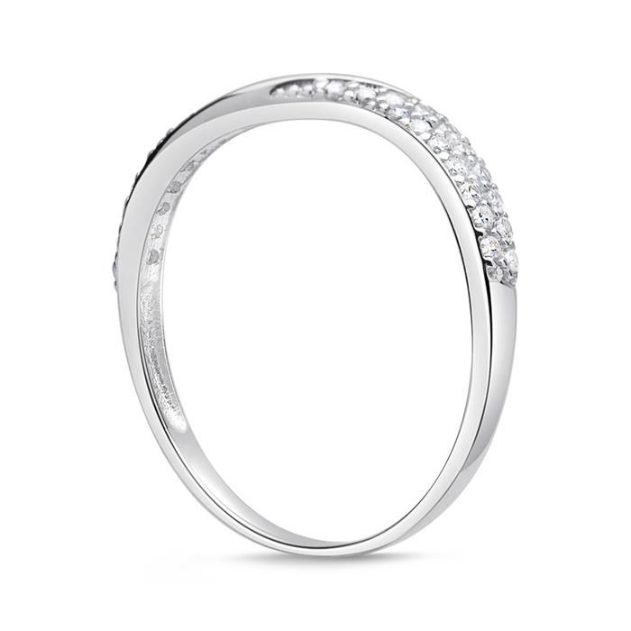 Geschwungener Ring 333er Gold mit Zirkonia