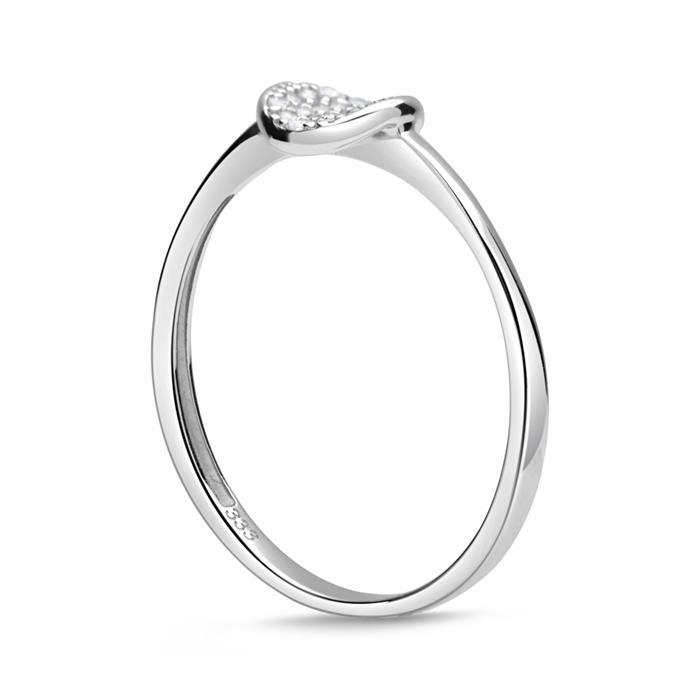 Eleganter Ring 333er Gold Zirkonia besetzt