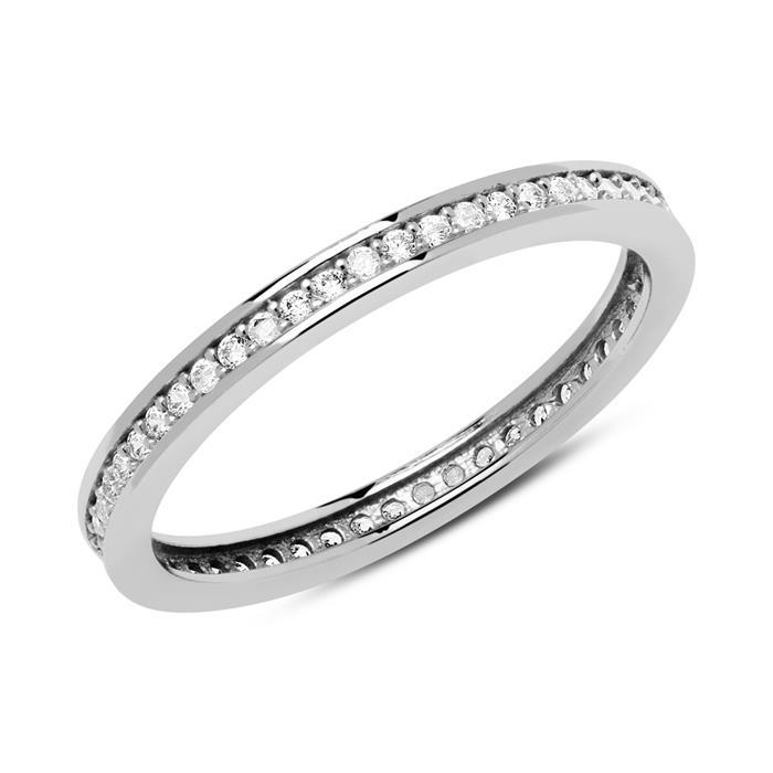 Eternity Ring aus 333er Weißgold mit Zirkonia