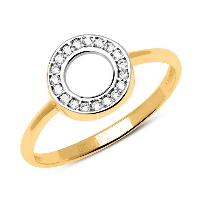 333er Gold Ring Kreis mit Zirkonia