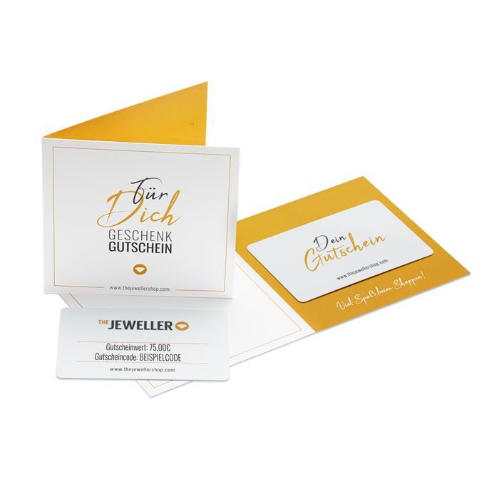 Geschenkgutschein im Wert von 75 € mit Grußkarte