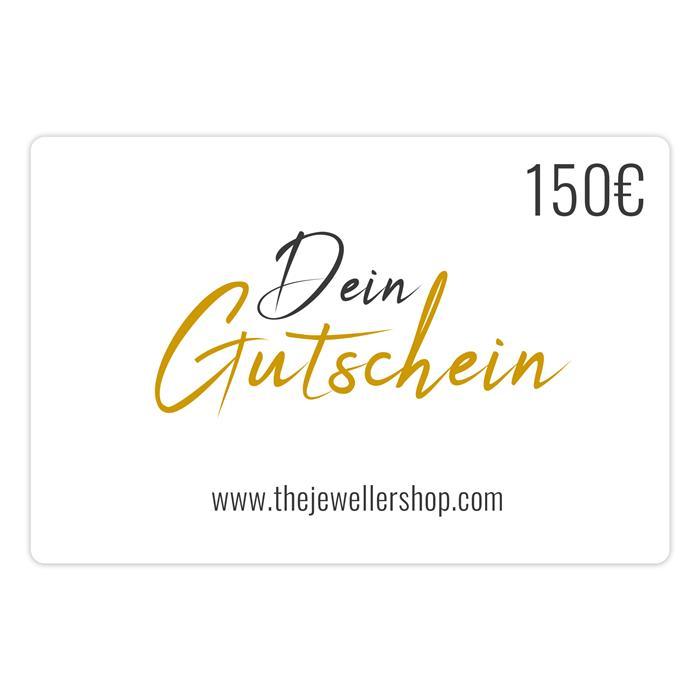 Geschenkgutschein 150,- EUR mit persönlicher Grußkarte