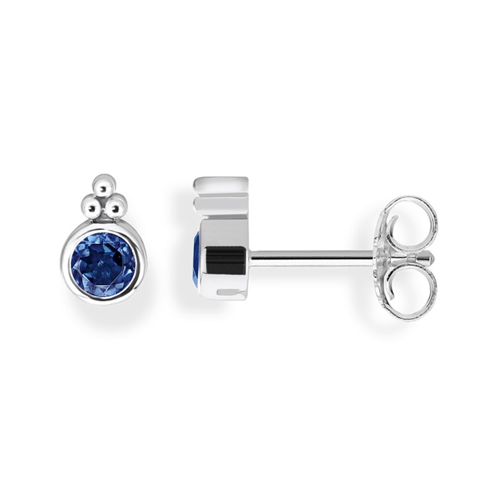 925er Silber Ohrstecker blau