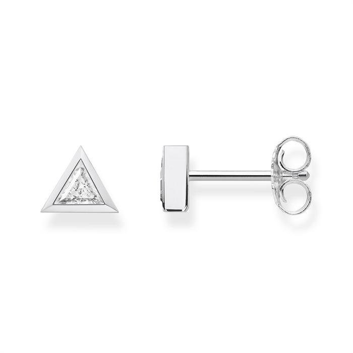 Ohrstecker Dreiecke Silber