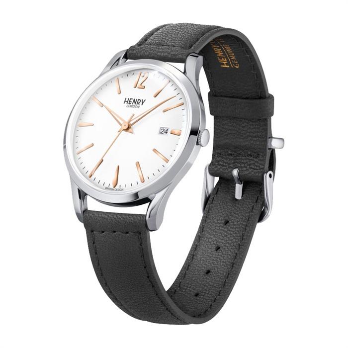 Highgate Uhr Leder silber