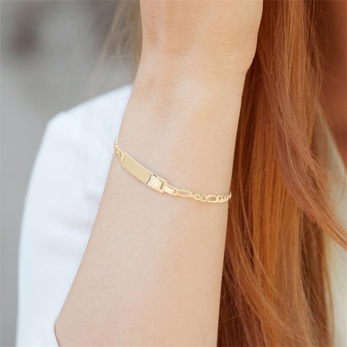 Figaro Armband vergoldet Gravur