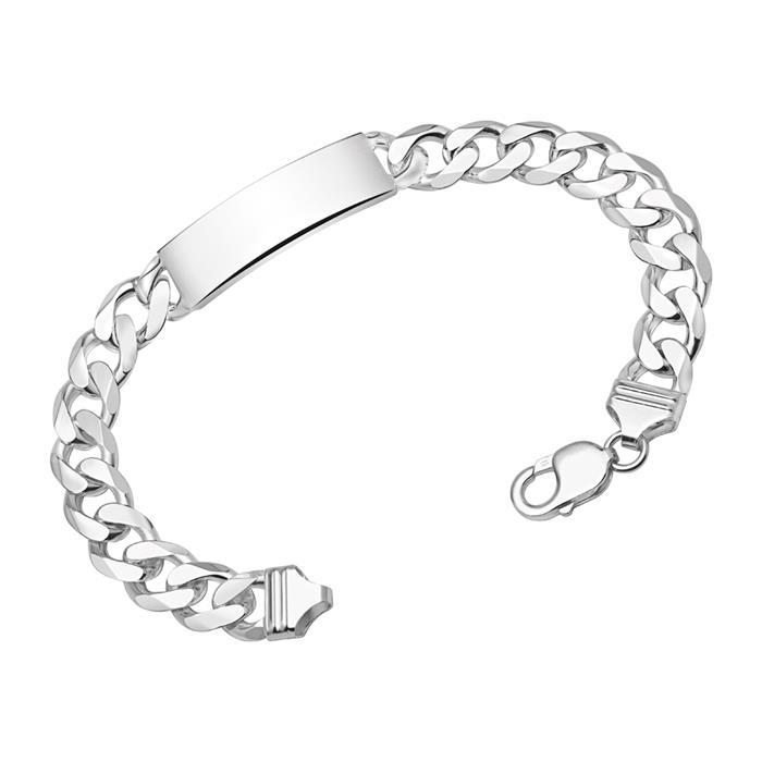 12mm 925 Silber Armband Gravur