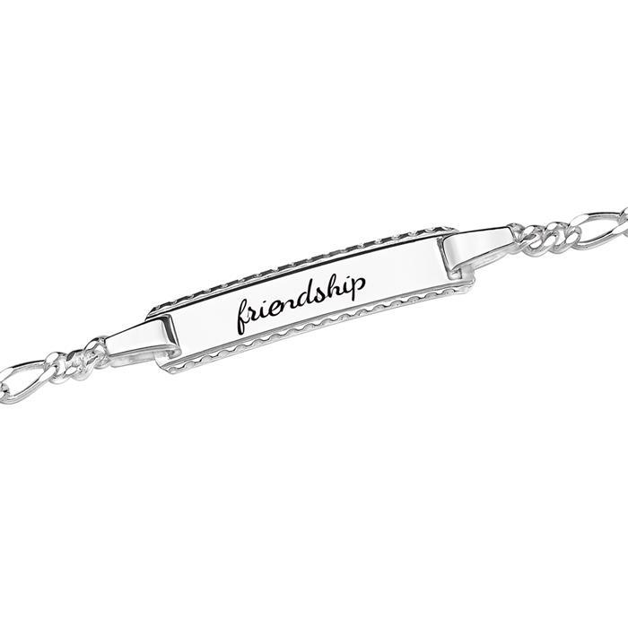 925 Silberarmband Gravur