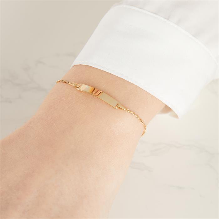 Armband mit Herzanhänger vergoldet