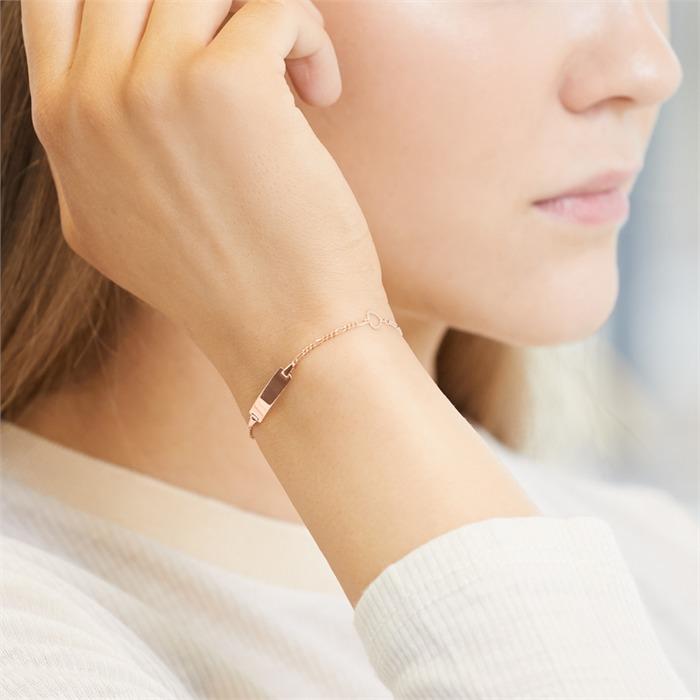 Damenarmband mit Herz Elementen roségold