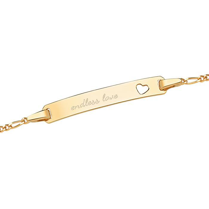 375 Gold Armband Herzmotiv poliert