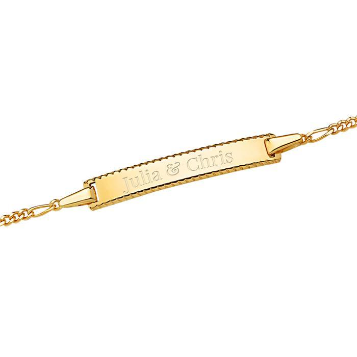 Gravierbares Armband 585er Gold Randverzierung