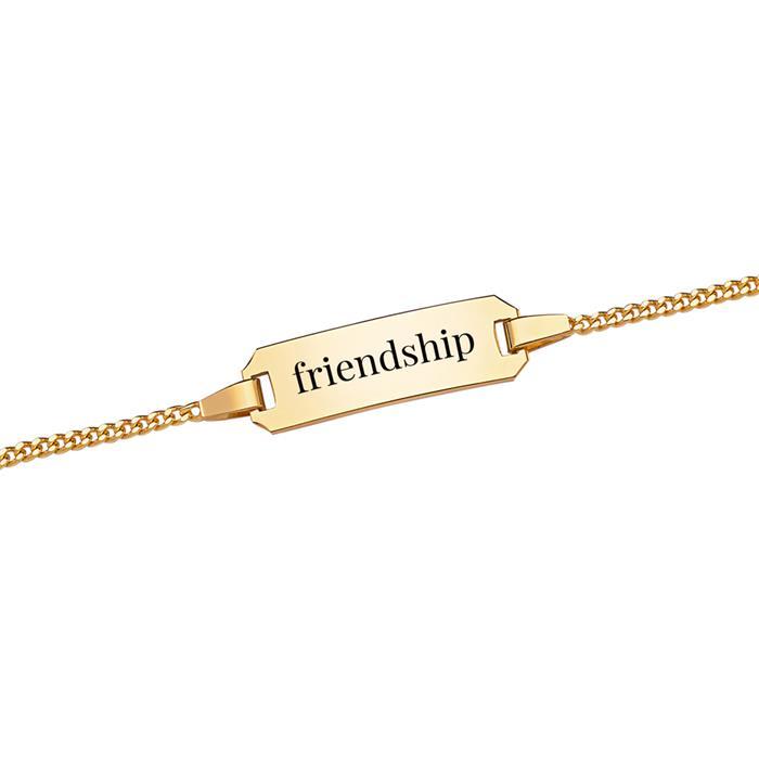 Romantisches Armband Herzanhänger 375er Gold