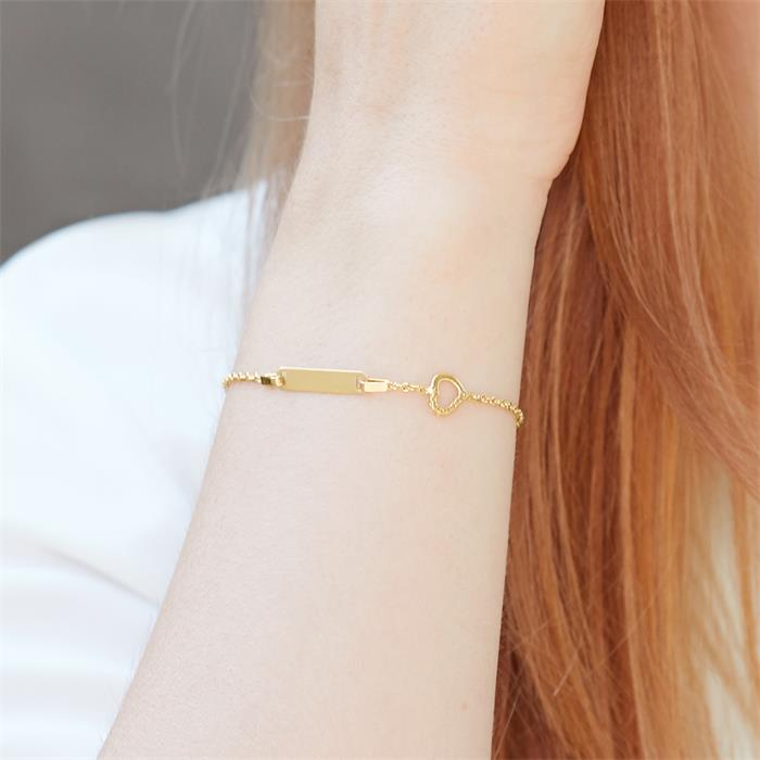 ID-Armband Herz 585er Gold Zirkonia