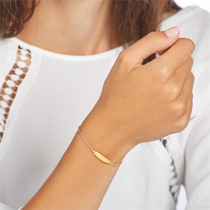 Armband aus 375er Gold gravierbar