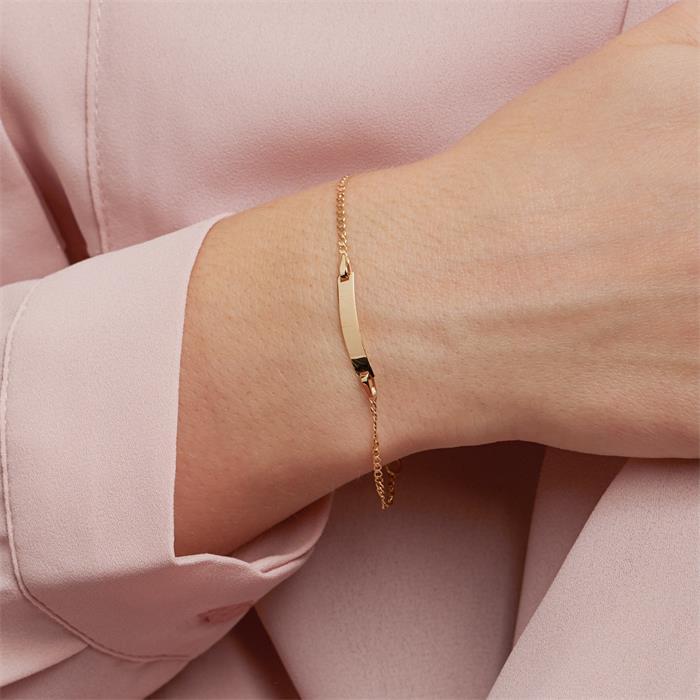 Gravierbares Armband für Damen aus 375er Gold