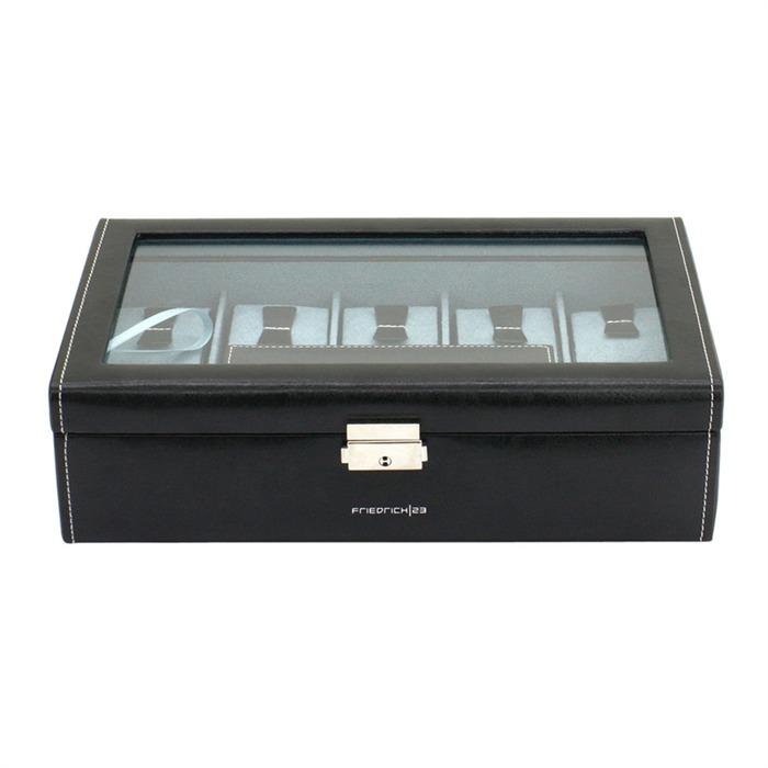 Uhrenkasten für 7 Uhren schwarz Reiseetui