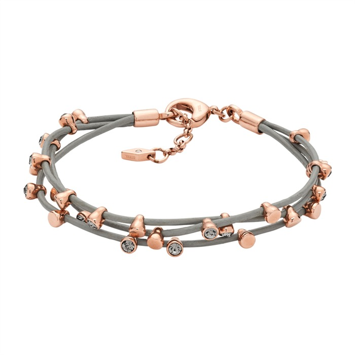 Armband Leder mit goldenen Perlen