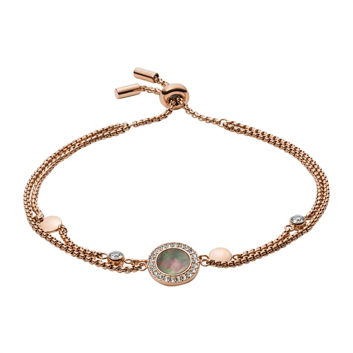 Armband Edelstahl rosévergoldet Perlmutt