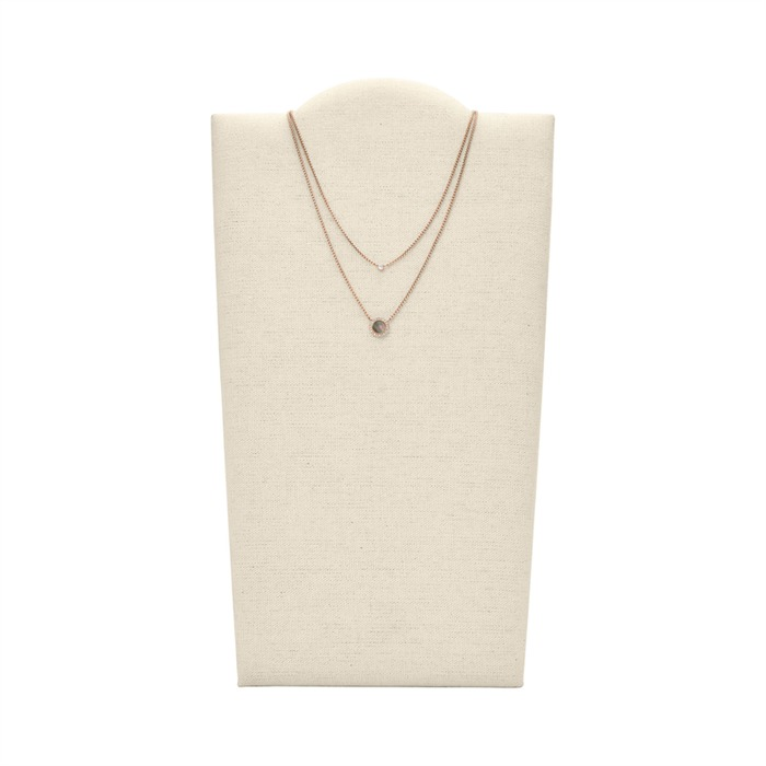 Zweireihige Kette Gray Mother of Pearl