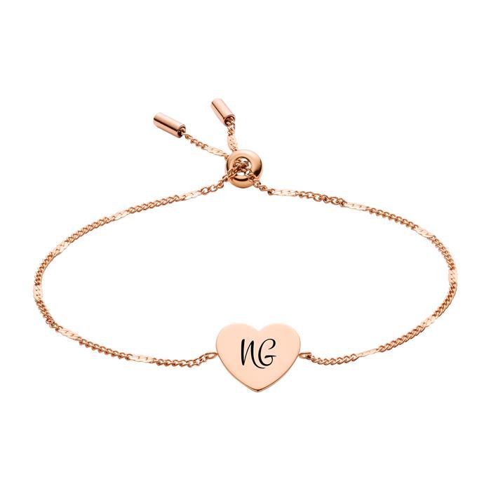 Gravierbares Armband Classics Edelstahl rosévergoldet