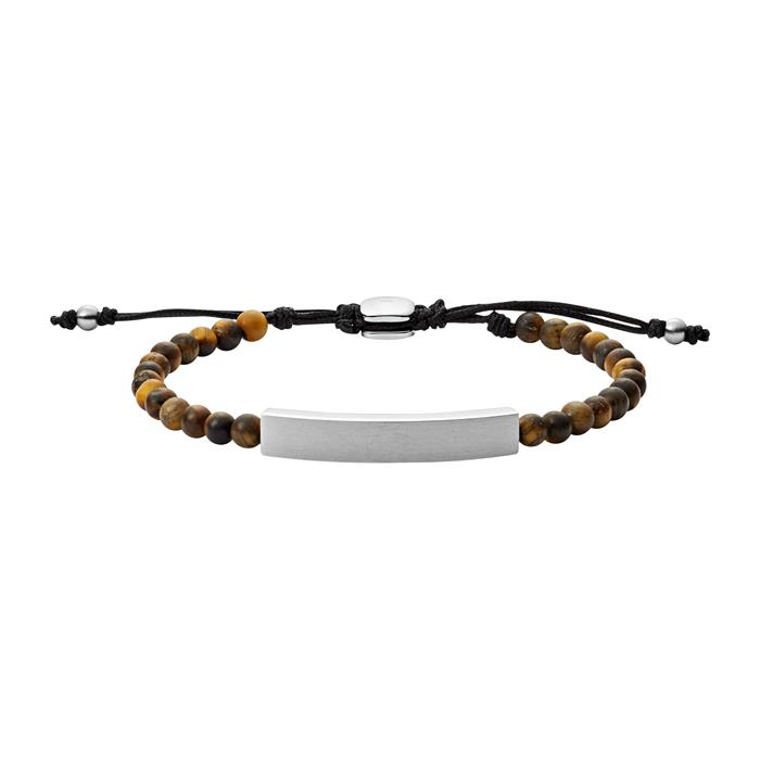 Gravur Armband aus Edelstahl mit Tigerauge