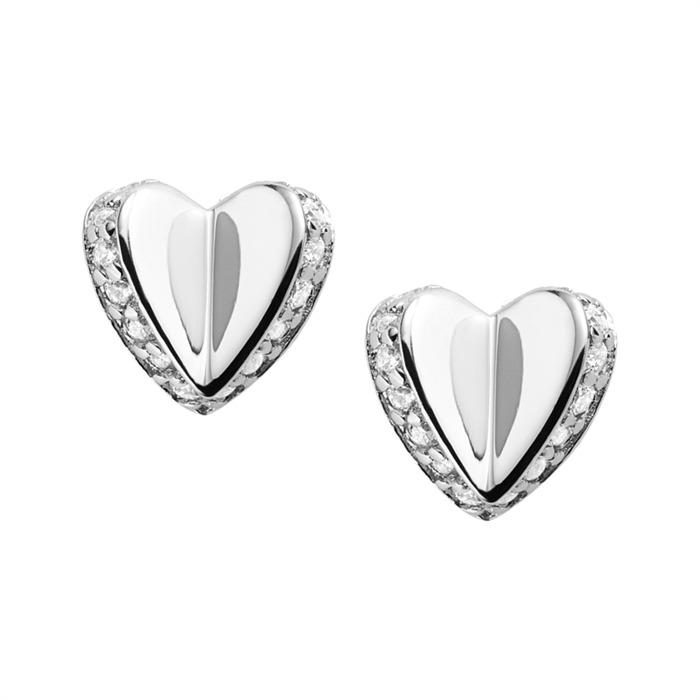 Ohrstecker Folded Heart 925er Silber