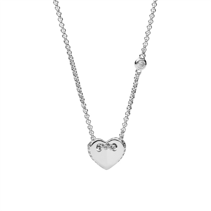 Kette Folded Heart 925er Silber