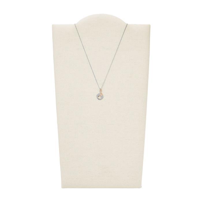 Fossil Halskette Hearts für Damen aus Sterlingsilber JFS00498998