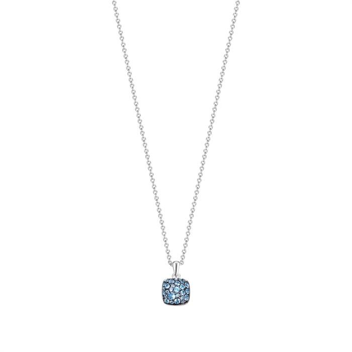 Echte Silber Kette mit blauen Steinen