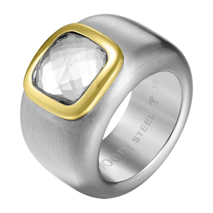 Glamouröser Ring JP-Cora silber gelbgold