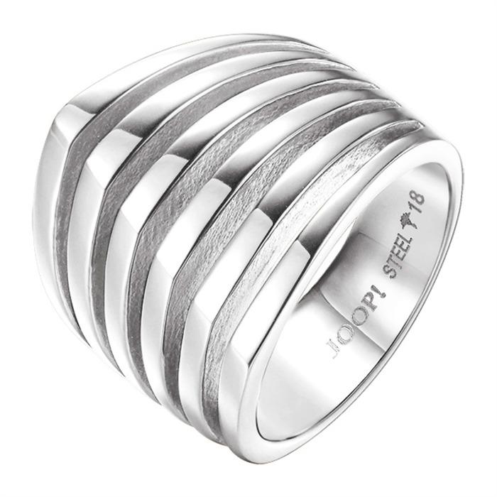 Ring mit Streifen in Silber