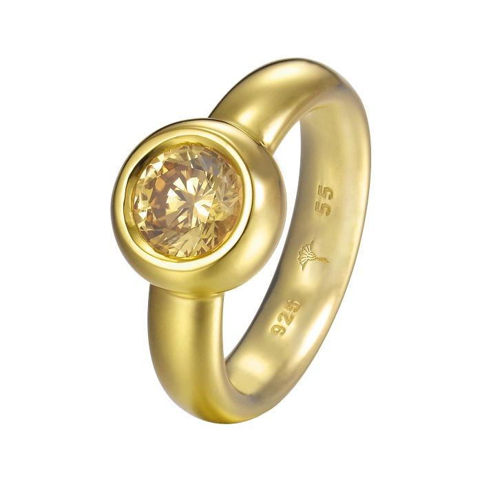 Joop Ring Lana 925 Silber vergoldet Zirkonia JPRG90736B