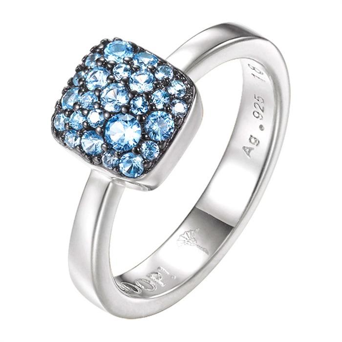 Ring Silber mit blauen Steinen