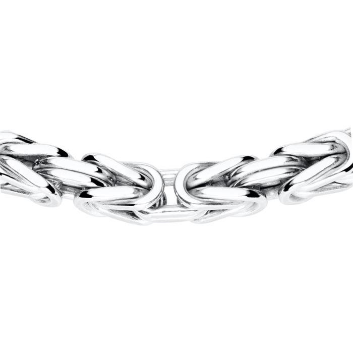 Königsarmband für Herren aus Sterlingsilber, 4,0 mm