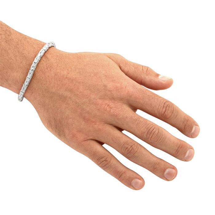 925 Silberarmband: Königsarmband Silber 5mm