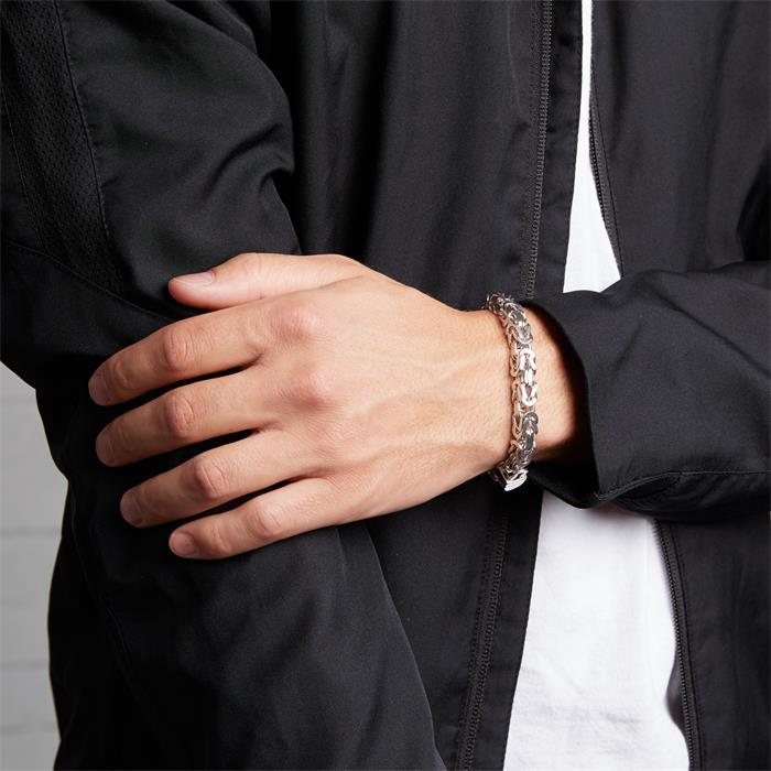 Sterlingsilber Königsarmband aus 925er Silber, 7,5 mm