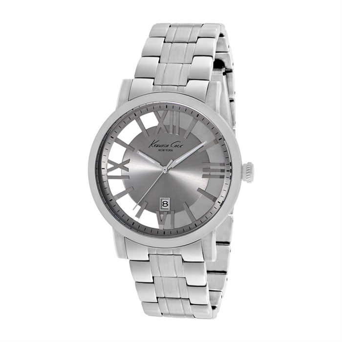 Herrenuhr Transparency silber